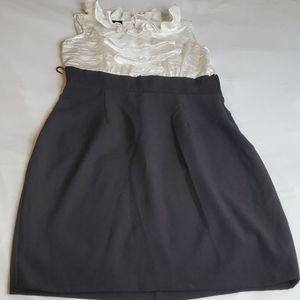 i zbyer black/white dress size 7